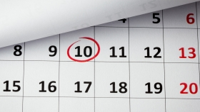 Financial Calender with marked date